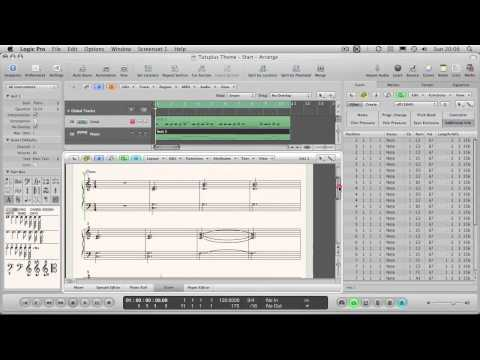 How to Create a Song Sheet in Logic's Score Editor - Part 4 - Adding Text Objects