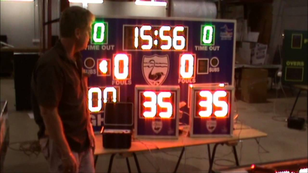 Basketball Scoreboard and Shot Clocks - YouTube
