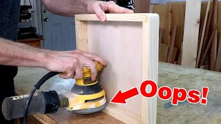 5 biggest sanding mistakes to avoid with a random orbit sander | Basic woodworking skills.