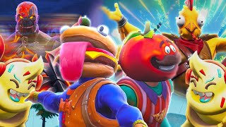 DESTRUCTION of Durr Burger and Tomatohead *Complete Series 2* - Fortnite Film