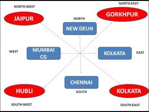 Railway zones in INDIA || headquarter of railway || railway zone || central rail