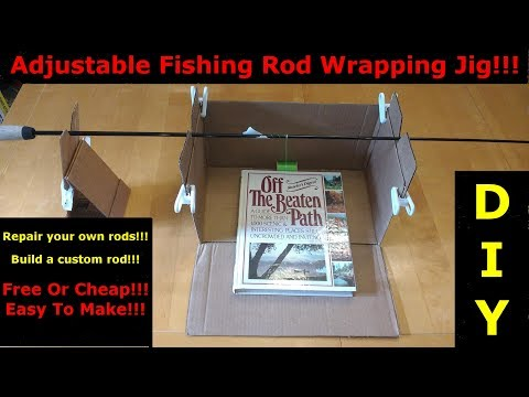 DIY: Make A Free/Inexpensive Fishing Rod Wrapping Jig Out Of A Cardboard Box!!!