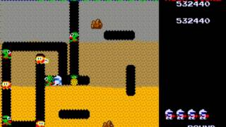 TAS DIG DUG 999990 pts (PlayStation)
