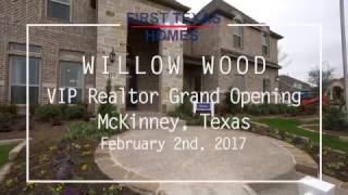 first texas homes realtor broker grand opening at willow wood in mckinney tx