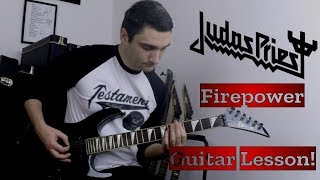 NEW SONG Judas Priest Firepower - GUITAR COVER & LESSON with TABS!