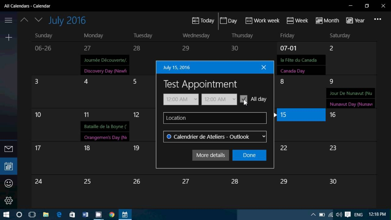 microsoft calendar app how to add a calendar