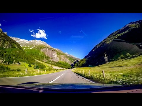 Driving in Switzerland - Grimsel Pass - RealTime - 4K UHD - GoPro Hero4 Black Edition