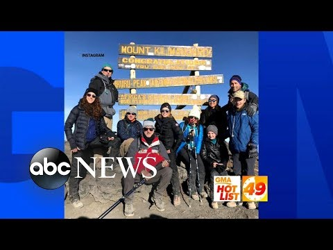 'GMA' Hot List: Amy Robach summits Mt. Kilimanjaro to celebrate her cancer recovery