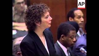 USA: OJ SIMPSON TRIAL: MARK FUHRMAN TESTIMONY