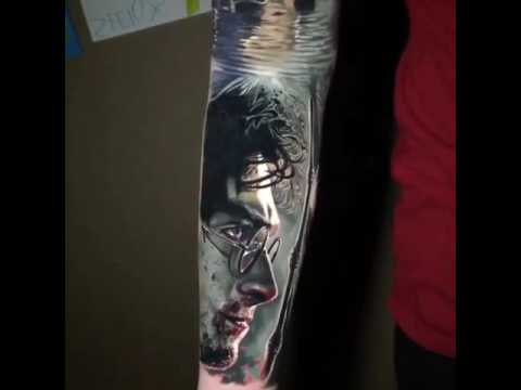 Gran Tatuaje De Harry Potter Manga Brazo Completo Tatto Youtube