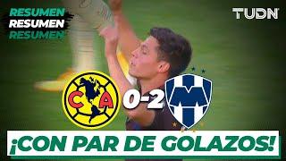 Resumen y goles   América 0-2 Rayados   Tour Águila 2021   TUDN