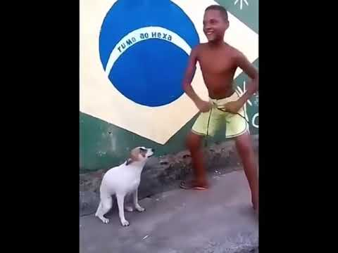 Dog dancing| i feel so good|feat pemuda Brazilian, AND DOG