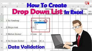 How to Create Drop down List in Excel in Telugu | Learn Advanced Excel Tutorials | Drop Down List