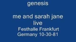 genesis- me and sarah jane live