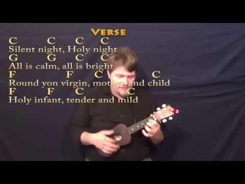 Silent Night - Ukulele Cover Lesson in C with Chords/Lyrics