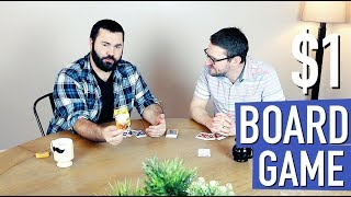 """The $1 Board Game """"Family Fued Strikeout Game"""" (Dollar Store Stuff with Nate and Vin)"""