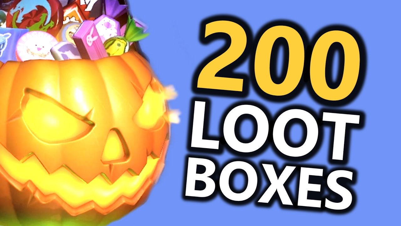 SPOOKY! Opening 200 Halloween LOOT BOXES! (Overwatch) - YouTube