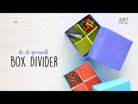 DIY Origami Box Divider | Paper Box | Craft Ideas