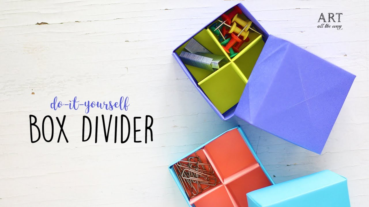 Fold a Divider for an Origami Box | Origami box, Diy origami ... | 720x1280
