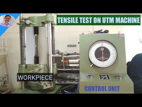 TENSILE TEST ON UTM MACHINE