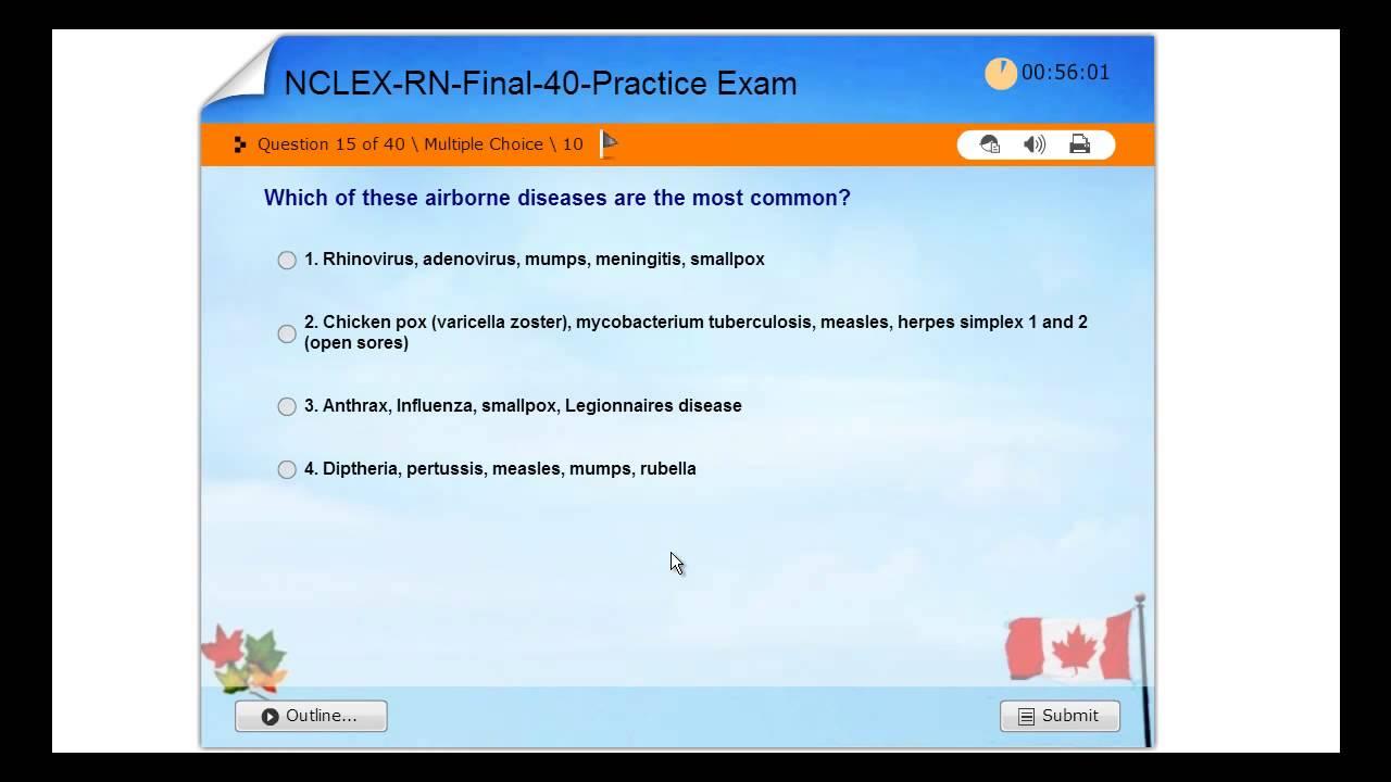 FINAL Practice Exam - Examination Registered Nurses NCLEX-RN – Canada -  NCSBN