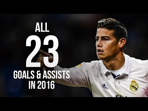 James Rodriguez - All 23 Goals & Assists in 2016 ᴴᴰ