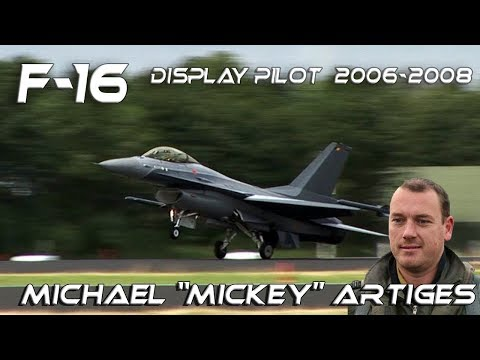 "F-16 2006-2008 Michael ""Mickey"" Artiges Belgian Air Force F-16 Solo Display Pilot 2006-2008"
