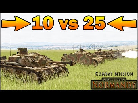 25 SHERMANS vs 10 STUG III - SIMULATION - Combat Mission Battle For Normandy Gameplay |