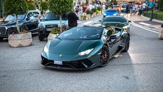Lamborghini Huracan LP640-4 Performante Spyder - Accelerations, Downshifts and Driving in Monaco !