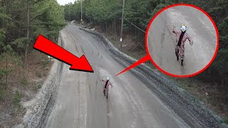 you wont believe what my drone saw on clinton road... / scary killer clown sighting