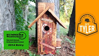 Diytyler Rustic Bluebird House Outhouse Style    007