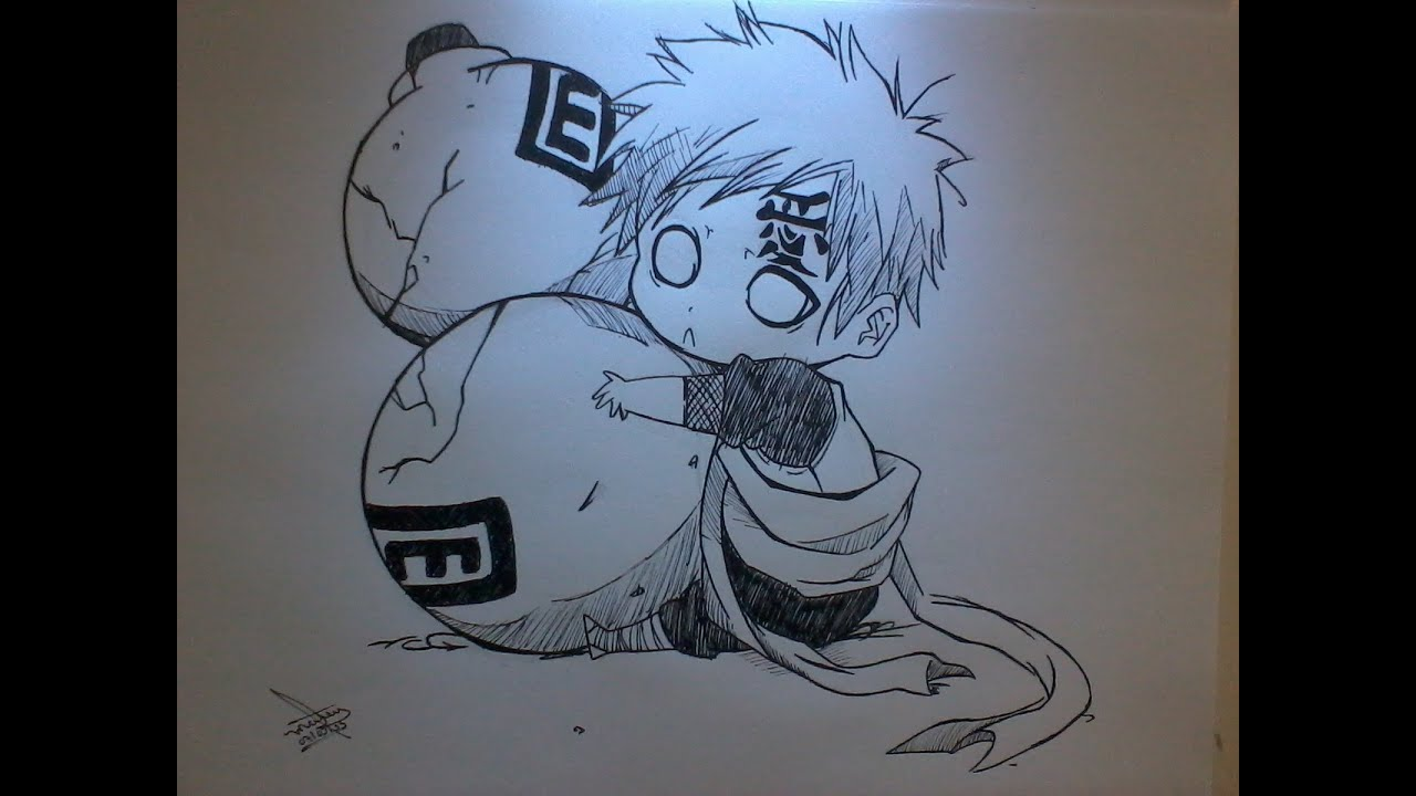 Drawing Gaara Chibi
