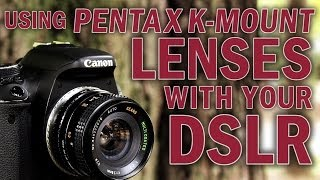 Mount Retro Pentax K-mount lenses on your DSLR with the Pentax K-Mount Lens Adapter from Fotodiox
