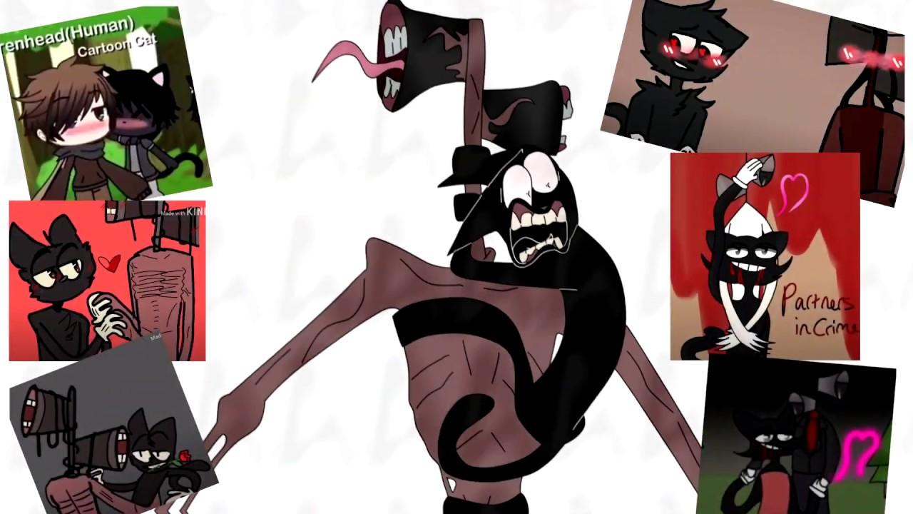 Siren Head X Cartoon Cat Reaction Youtube