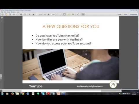 TECH TUESDAYS: YouTube - a tool to connect and engage with your existing and future learners