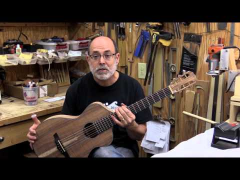 Guitar Building at Lichty Guitars - John Thomas