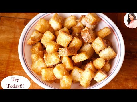 Caramel Bread Popcorn Recipe, Kids Snack Recipe, Popcorn Recipe, Crispy Bread Popcorn, Evening Snack