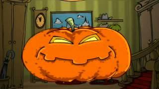 Прикольное поздравление на Хэллоуин 18 тыкв