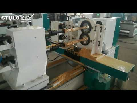 New Design Automatic CNC Wood Lathe Machine for sale with low price