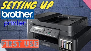 sETTING UP BROTHER PRINTER DCP-T710W FOR FIRST USE / DCP T710W / DCPT710W / DIY / JACK OFALL