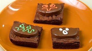 Chocolate Peanut Butter Pumpkin Brownies