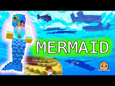 Thumbnail: I'm A Mermaid - Cookieswirlc Minecraft Game Let's Play Swimming Underwater Oceancraft Gaming Video