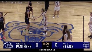 Girls Basketball - Ava vs Forsyth 1-7-20 Full Game