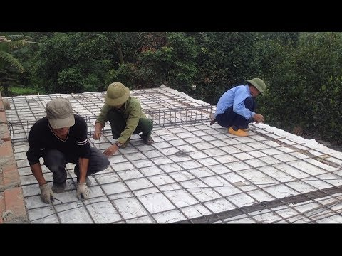 Techniques Intelligent Construction Roof Using Concrete - Technology Building Roof Step By Step