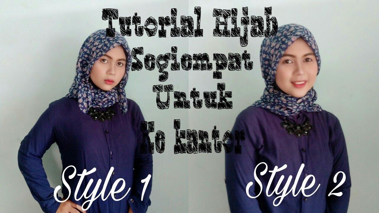 Tutorial Hijab Segiempat Untuk Ke Kantor 6 Dessi Tika