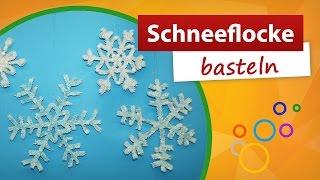 Schneeflocke basteln - Bastelideen Winter | Gratis Bastelanleitung - trendmarkt24