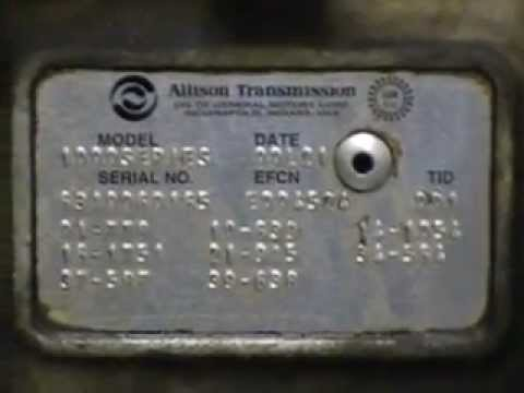 Allison Transmission  LCT 1000  Teardown Inspecton  YouTube