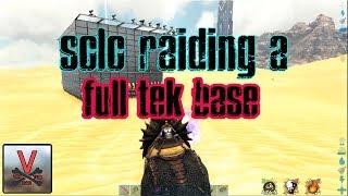 Solo Raiding A TEK base (Official PVP) - ARK: Survival Evolved