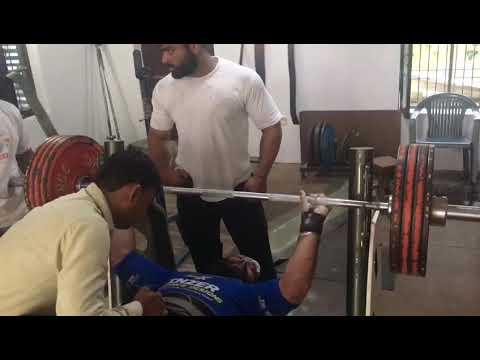 Nawab singh arm wrestler bench press 205 kg bajrang gym assandh