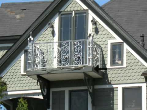 Water Damaged Exterior Balcony With Wood Rot - Victorian ...